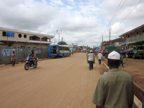 Streets of Kenema in Sierra Leone free photo