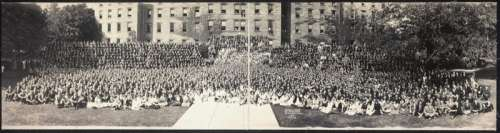 Students outside of state college, Pennsylvania in 1922 free photo