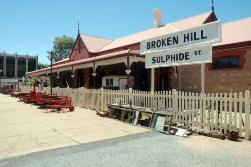 Sulphide Street railway station in Broken Hill, New South Wales, Australia free photo