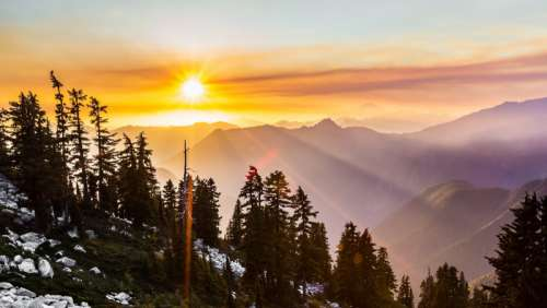 Sunlight and Sunset in Washington free photo