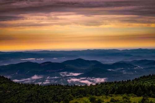 Sunrise and Daybreak over the Hills in North Carolina free photo