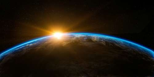 Sunrise over the Earth free photo