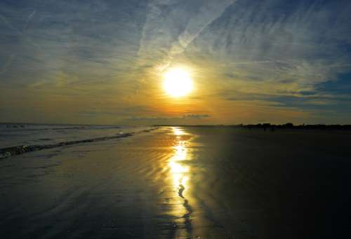 Sunset Over the Beach Landscape in South Carolina free photo