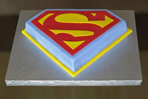 Superman Birthday Cake free photo