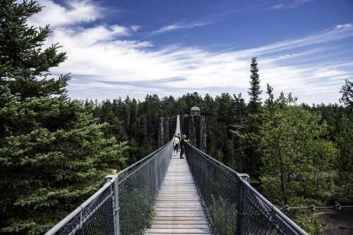 Suspension Bridge across the canyon at Eagle Canyon, Ontario free photo