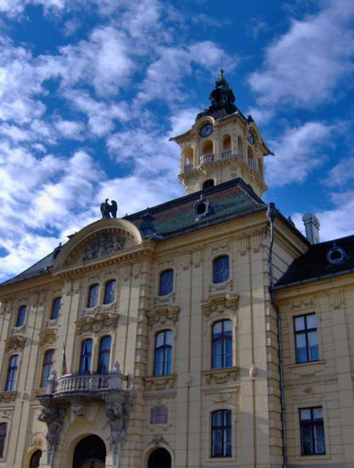 Szeged City Hall in Budapest, Hungary free photo
