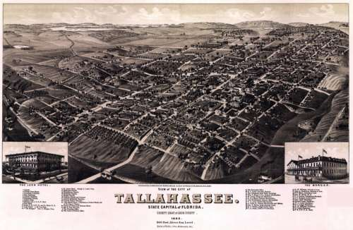 Tallahassee Cityscape in Florida in 1885 free photo