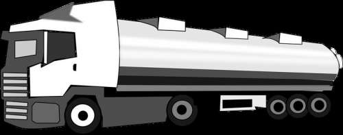 Tanker Truck Vector Clipart free photo