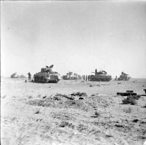 Tanks of 8th Armoured Brigade during the Second Battle of El Alamein, World War II free photo
