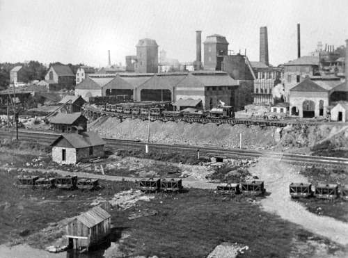 The Allentown Rolling Mill Company, photographed in 1889 in Pennsylvania free photo