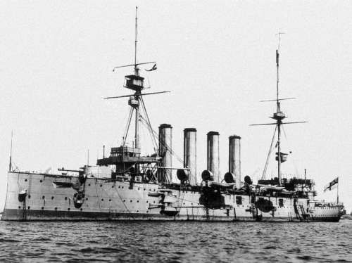 The armoured cruiser HMS Cressy in World War I free photo