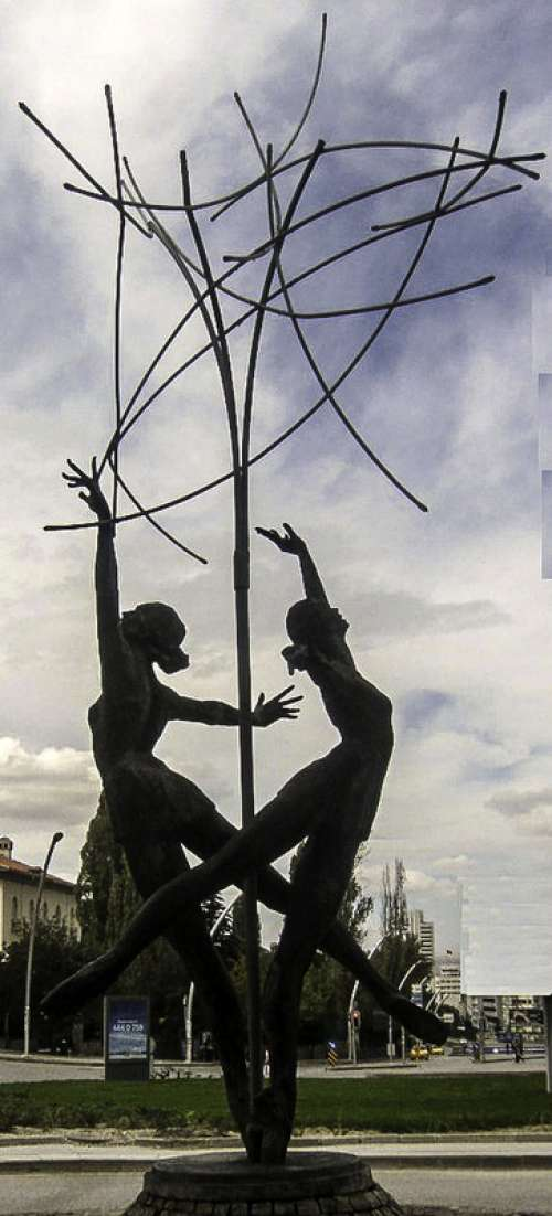 The Ballet Dancers statues in Kavaklıdere in Ankara, Turkey free photo