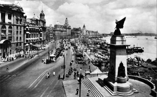 The Bund in 1928 in Shanghai, China free photo