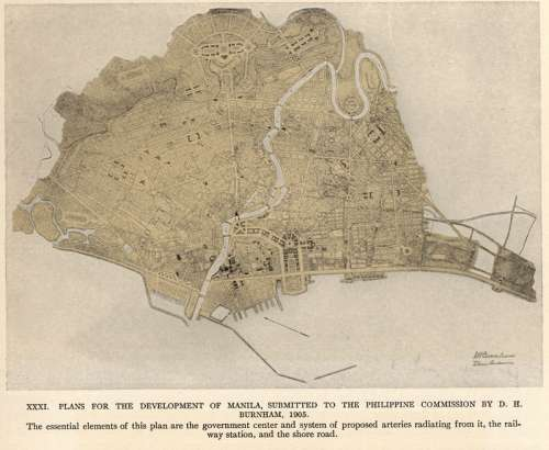 The Burnham Plan of Manila, Philippines free photo
