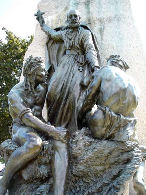 The Christian missionary portion of the Samuel de Champlain in Orillia, Ontario, Canada free photo