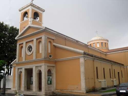 The church of Borgo Sabotino in Latina, Italy free photo