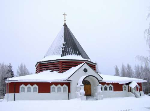 The church of the Holy Family of Nazareth Parish in Oulu in Finland free photo