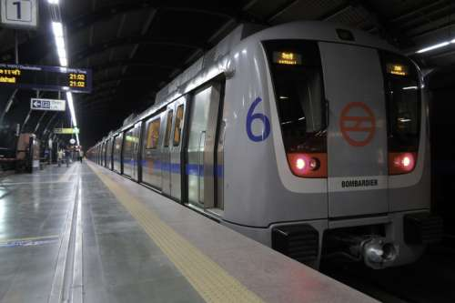 The Delhi Metro in New Delhi, India free photo