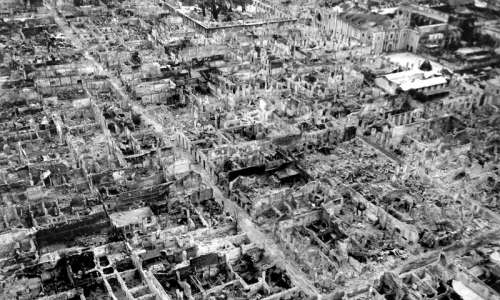 The destruction brought about by the Battle of Manila in 1945 in Philippines free photo