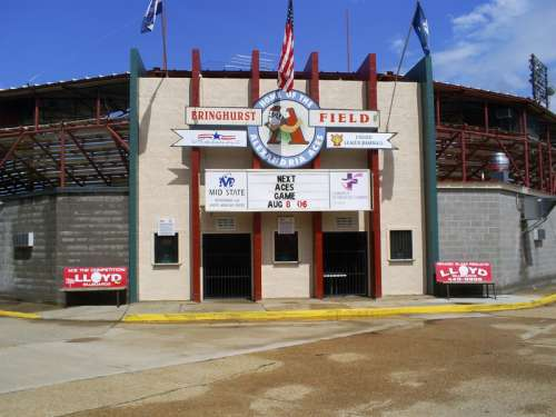 The Entrance to Bringhurst Field in Alexandria, Louisiana free photo
