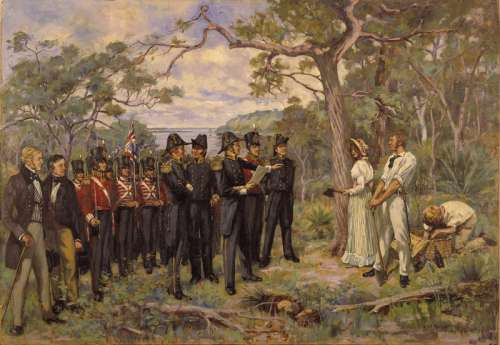 The founding of Perth in 1829 in Australia free photo