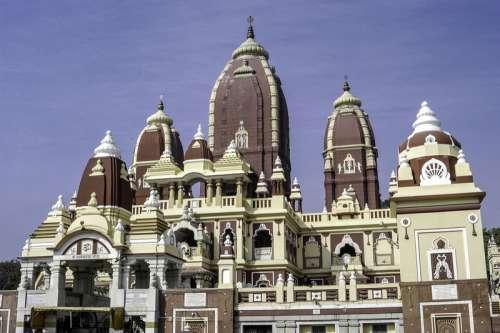 The laxminarayan temple in Delhi, India free photo