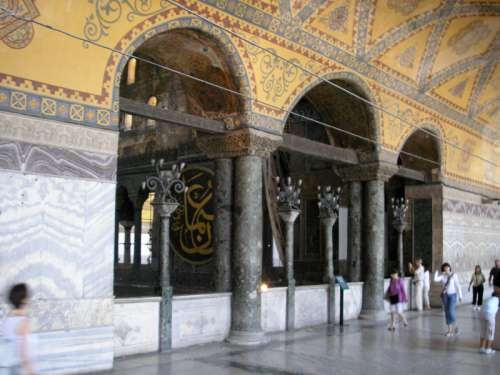 The Loge of the Empress in the Hagia Sophia in Istanbul, Turkey free photo