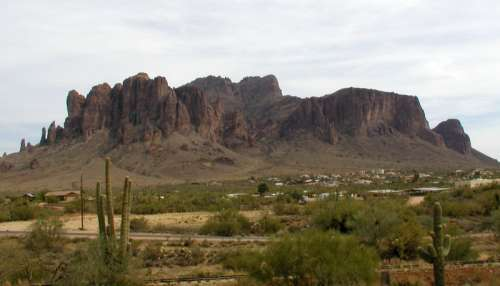 The Lost Dutchman Mine, located in the Superstition Mountains in Apache Junction, Arizona free photo