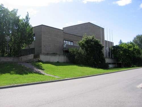 The main library of Vantaa, in Tikkurila in Finland free photo