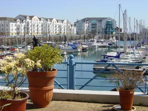 The marina complex in Carrickfergus in Ireland free photo