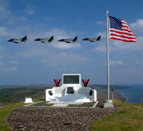 The memorial on top of Suribachi, Iwo Jima free photo