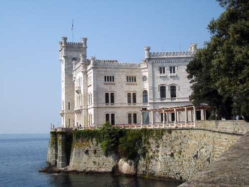 The Miramare Castle in Trieste, Italy free photo