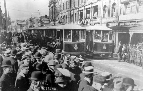 The opening of the Launceston Municipal Tramway in 1911 in Tasmania, Australia free photo