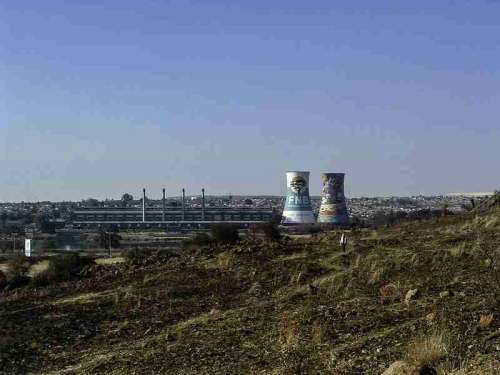 The Orlando Cooling Towers in Johannesburg, South Africa free photo