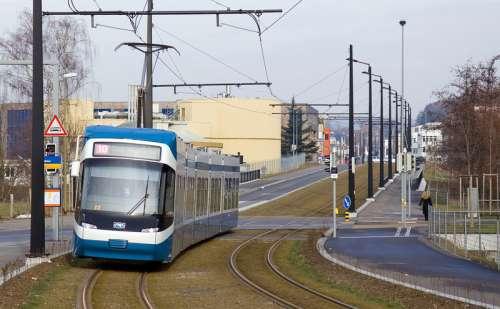 The Stadtbahn Glattal in Opfikon, Switzerland free photo
