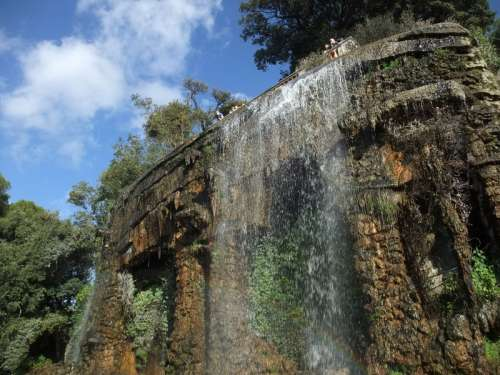 The waterfall on the Colline du Château in Nice, France free photo