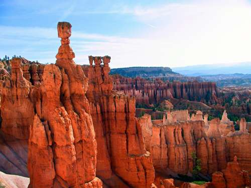 Thor's Hammer Rock Formation in Bryce Canyon National Park, Utah free photo