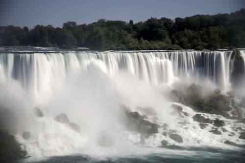Time-Lapse waters of the American Falls from Niagara Falls, Ontario, Canada free photo