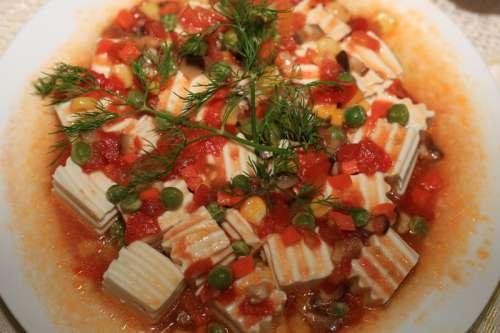 Tofu with Tomato Sauce free photo