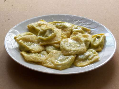 Tortelli d'erbetta, A common food in Parma, Italy free photo