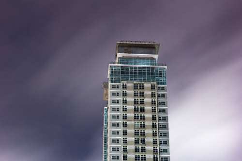 Tower under the sky in Quezon City, Philippines free photo
