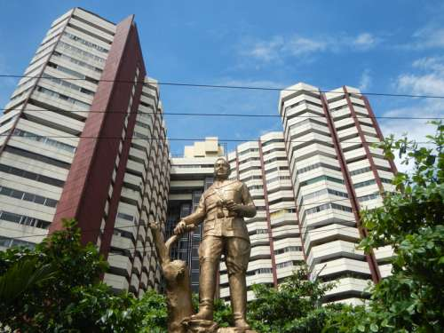 Towers and Statue in Manila, Philippines free photo