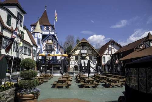 Town Plaza in Alpine Helen, Georgia free photo