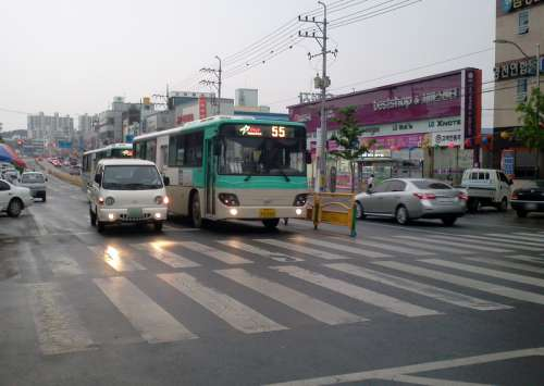 Traffic and Cars in YeongCheon, South Korea free photo