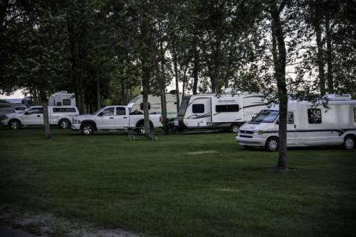 Trailers at the RV Camp at J.W. Wells State Park, Michigan free photo