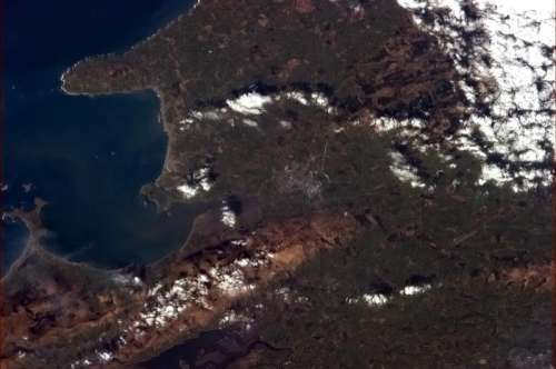 Tralee as seen from the International Space Station in Ireland free photo