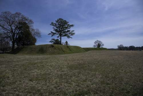 Trenches and Landscape in Yorktown, Virginia free photo