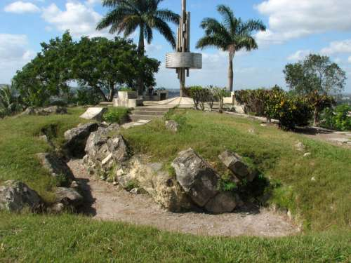 Trenches made by rebels in Cuba free photo