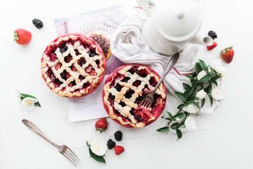 Two Cherry Pies free photo