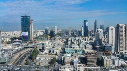 Urban Cityscape with buildings in Tel-Aviv, Israel free photo